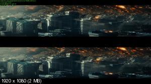 День независимости: Возрождение 3D / Independence Day: Resurgence 3D  (by Ash61) Вертикальная анаморфная стереопара